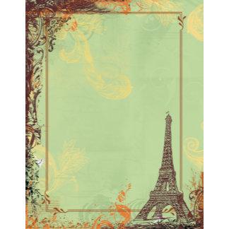 Eiffel Tower in Green