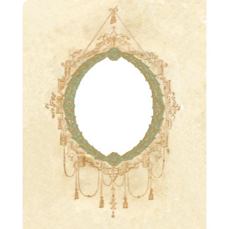 Ornate French Oval Frame Template