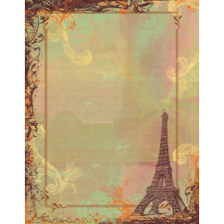 Eiffel Tower Vintage Style in Pink
